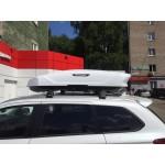 Автомобильный бокс  Broomer Venture (L) белый глянец