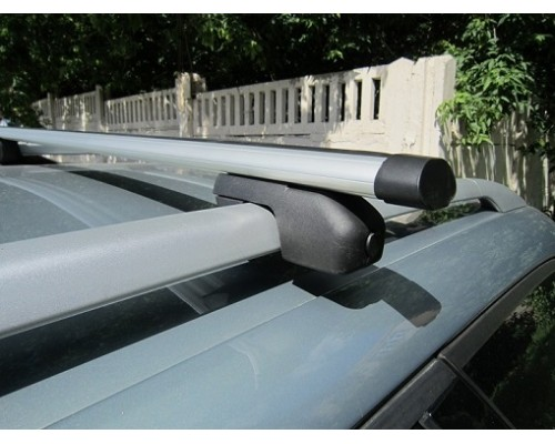 Багажник ЕВРО с секретками с аэродинамическими дугами на рейлинги