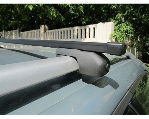 Багажник ЕВРО с секретками со стальными дугами на рейлинги