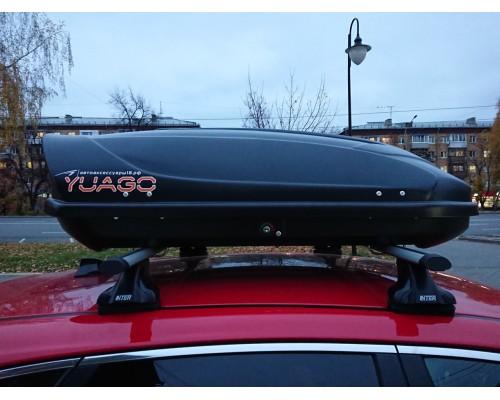 Автомобильный бокс YUAGO Optima Euro lock чёрный