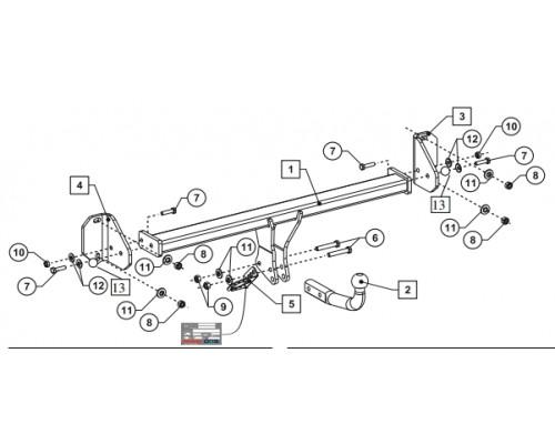 Фаркоп Bosal 4757-A для BMW X1 (F48) 2015-