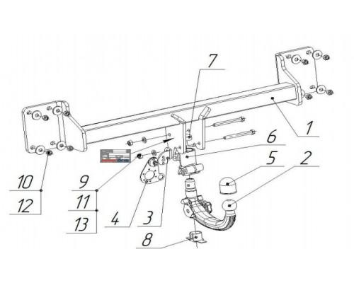 Фаркоп Bosal 4755-AK41 быстросъемный для BMW X6 (F16) 2014- (кроме X6 M)