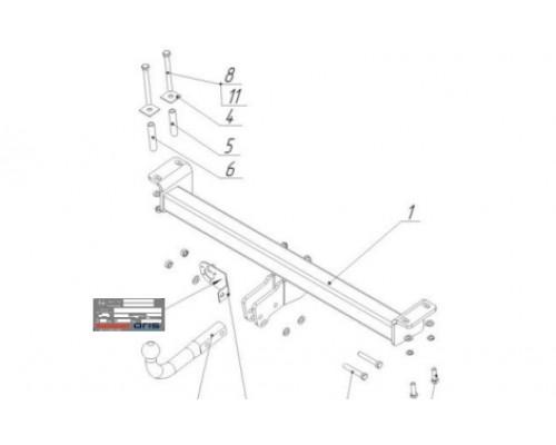 Фаркоп Bosal 7610-A для Chery Tiggo 3 2016-