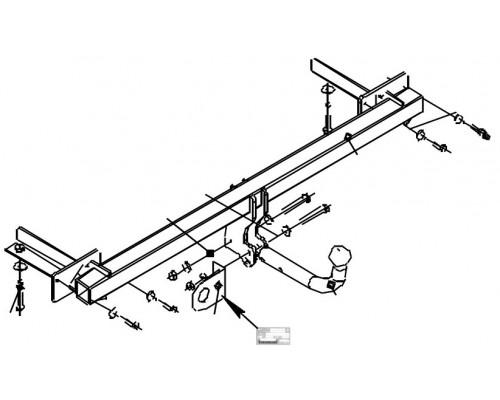 Фаркоп Bosal 1234-A для Lada Vesta седан/Vesta SW/Vesta SW Cross