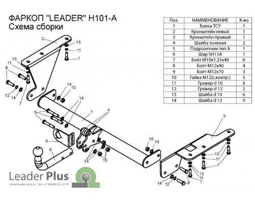 Фаркоп Лидер-плюс для Honda CR-V 2006-2012
