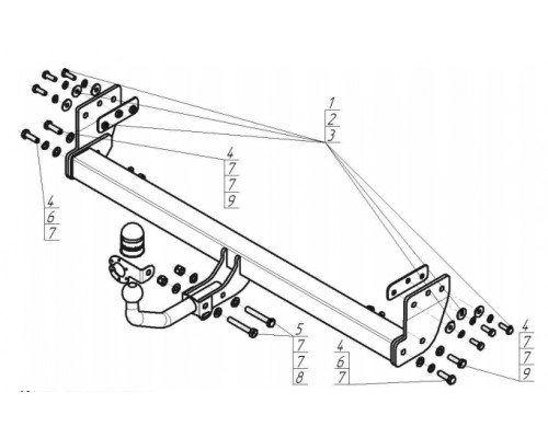 Фаркоп Motodor для Kia Seltos 2020-
