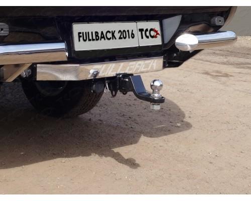 Фаркоп ТСС быстросъемный для Fiat Fullback 2016- (без бампера) с нерж. накладкой