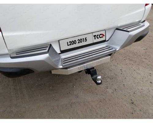 Фаркоп ТСС быстросъемный для Mitsubishi L200 2015-2018/ 2019- усиленный с нерж. накладкой
