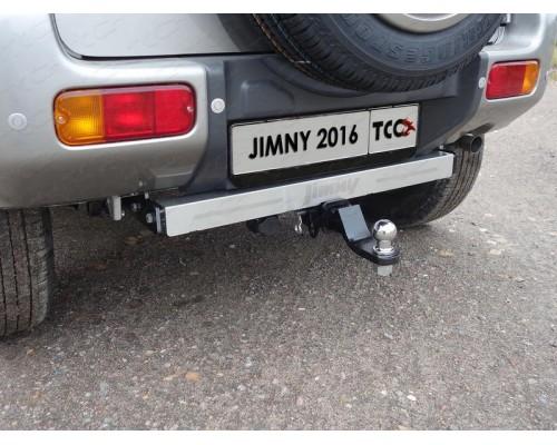 Фаркоп ТСС быстросъемный для Suzuki Jimny 2012-2018 с нерж. накладкой