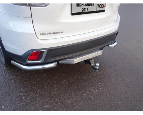 Фаркоп ТСС быстросъемный для Toyota Highlander 2017- с нерж. накладкой