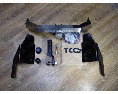 Фаркоп ТСС быстросъемный для Toyota Land Cruiser Prado 150 2009- с нерж. накладкой
