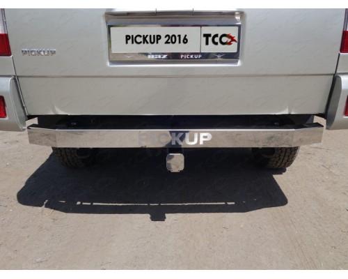 Фаркоп ТСС быстросъемный для UAZ Pickup 2015- с нерж. накладкой