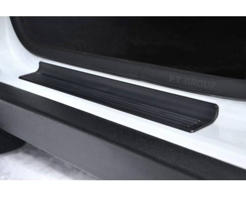 Накладки внутренних порогов передние (ABS) ПТ Групп для Renault Duster 2012- (в т.ч. рестайлинг)