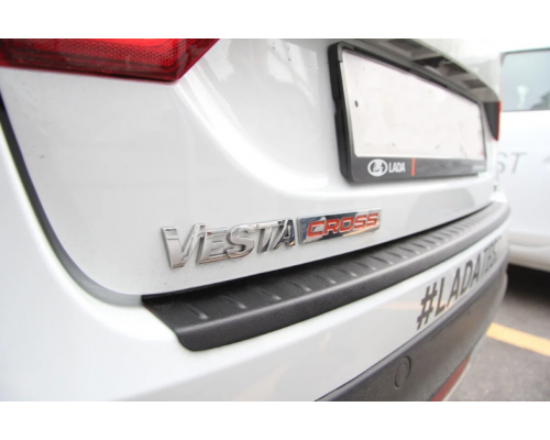 Накладка на задний бампер (АБС) Yuago АртФорм для Lada Vesta SW Cross/ Vesta Cross седан