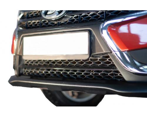Накладка (юбка) переднего бампера (АБС) Yuago АртФорм для Lada Vesta SW/ Vesta седан