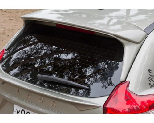 """Спойлер (комплект 2 шт.) """"Чистое стекло"""" (в цвет автомобиля) Yuago АртФорм для Lada Xray"""