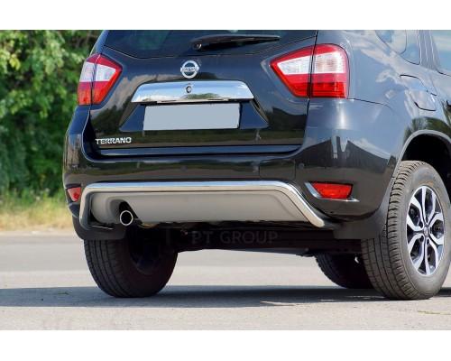Защита заднего бампера ПТ Групп одинарная D51 (НПС) для Nissan Terrano 2014-