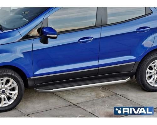 """Пороги алюминиевые Rival """"Premium"""" для Ford Ecosport 2014-"""