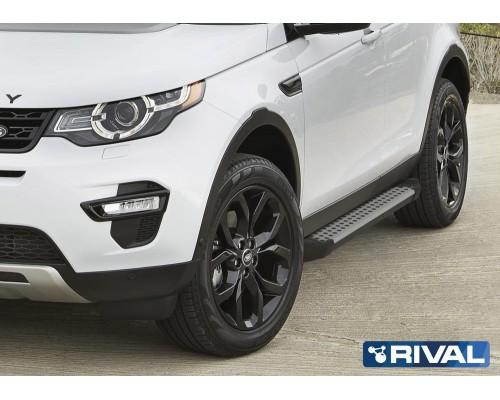 "Пороги алюминиевые Rival ""Bmw-style"" для Land Rover Discovery Sport 2014-"
