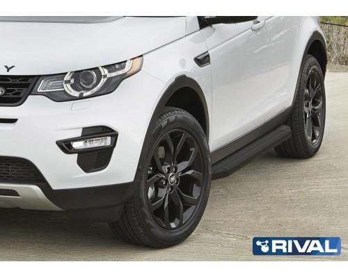 "Пороги алюминиевые Rival ""Premium-Black"" для Land Rover Discovery Sport 2014-"