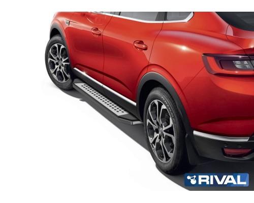 "Пороги алюминиевые Rival ""Premium-Bmw-Style"" для Renault Arkana 2019-"