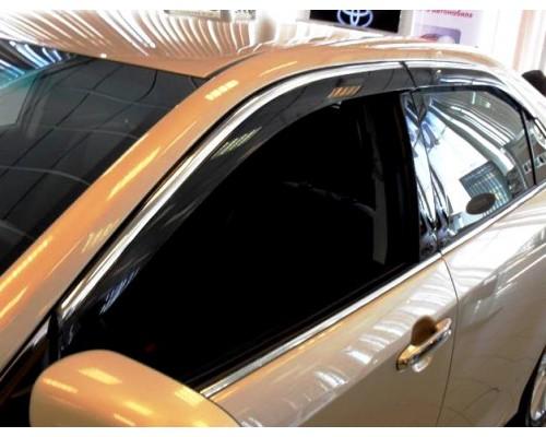 Дефлекторы окон на AUDI Q3 2011- ALVI-STYLE с нерж. молдингом